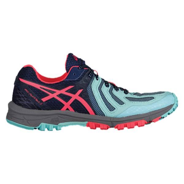 アシックス レディース ランニング・ウォーキング シューズ・靴【ASICS GEL-Fujiattack 5】Aqua Splash/Diva Pink/Indigo Blue アシックス レディース ランニング・ウォーキング シューズ・靴 【サイズ交換無料】【黒い】