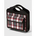 ショッピングトート バーバリー Burberry レディース トートバッグ バッグ【mini tartan nylon and leather pocket bag】Bright Red