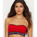 トミー ヒルフィガー レディース インナー・下着 ブラジャーのみ【Tommy Hilfiger Seamless Logo Bandeau Bra】Apple Red