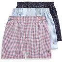 ещеые╒ еэб╝еьеє Polo Ralph Lauren есеєе║ е▄епе╡б╝е╤еєе─ 3┼└е╗е├е╚ едеєе╩б╝бж▓╝├хб┌classic fit woven cotton boxers 3-packб█Life Preserver Plaid