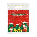 ミニサンタPEバッグ-3 100枚 【クリスマスラッピング クリスマス 包装資材 ギフト用 プレゼント用】 {手提げ袋 サンタさん サンタクロース 雪だるま ス...