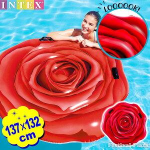 58783 レッド ローズ マット 137×132cm INTEX インテ