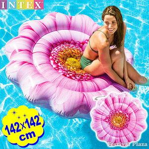 58787 ピンク デイジー フラワー マット 142×142cm IN