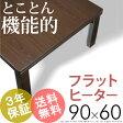 【送料無料】こたつ テーブル 長方形 『スクエアこたつ 〔ジェント〕 90x60cm』 継足折りたたみ家具調こたつパネルヒーター