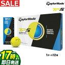 日本正規品 2018年モデル Taylormade テーラーメイド ゴルフ TP5 YELLOW イエロー ゴルフボール 1ダース