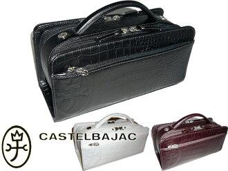 -拉樂天老鷹在日本銷售中,銷售 Castelbajac CASTELBAJAC 樂天日本費免費火花鱷魚新聞鱷魚鱷魚地鐵 W ファスナーセカンドバッグ (黑色) 黑色、 巧克力和白 (白色) 白色 063204
