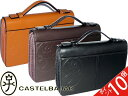 [second bag]  CASTELBAJAC second back business cowhide  ceremonial occasion free shipping collect on delivery  W fastener double second bag business cowhide 164205