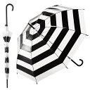【 パール金属 】ファッションビニールアンブレラ ボーダーブラック ( N-8493 / AP10245400 )【 ビニール傘 かわいい 傘 透明 おしゃれ ...