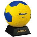 【 ミカサ 】記念品用マスコットハンドボール イエローブルー ( HB30 / MKS10252234 )【 ミカサ ミカサ ハンドボール 】【QBI07】