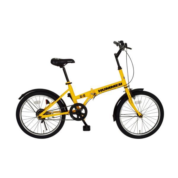 【送料無料】HUMMER FDB20R イエロー ( MG-HM20R / MMG10300378 )【 ミムゴ 】【QBH12】 【 自転車 折り畳み自転車 ハマー 】