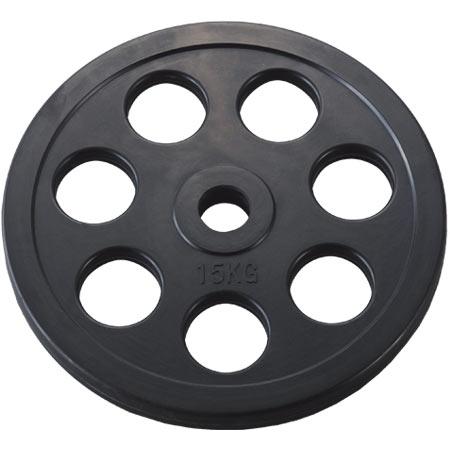 穴付ラバーバーベルプレート28 15kg (DAN235956/D5014)【QBH12】 【 バーベル セット 】 DANNO(淡野)