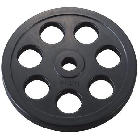 穴付ラバーバーベルプレート28 20kg (DAN235957/D5015)【QBH12】 【 バーベル セット 】 DANNO(淡野)
