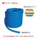カラー綱引ロープ30mm(赤) (JS83169/EKA421)【分類:運動会】【QCA25】