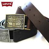 LEVI''S リーバイス U.S.A ロゴバックルベルト US限定 本革 11LV0253 US限定 ロゴバックル 本革レザーベルト リーバイ・ストラウス ジーンズ デニムパンツ