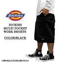 残りわずか!!Dickies ディッキーズ ワークウェア U.S.A 13インチ ワークハーフパンツ 黒 メンズ ファッション あす楽 アメカジ ス..