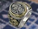 観音菩薩 和柄 和風 龍 ドラゴン 蓮の花 シルバーアクセサリー メンズ シルバーリング 指輪 シルバー925 メンズアクセサリー 大きいサイズ 送料無料