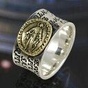 シルバーリング silver925 真鍮 マリア アンティーク