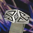 シルバーリング 指輪 silver925 エッジ トライバル ジ