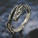 シルバーリング 指輪 フリーサイズ silver925 ドラゴ