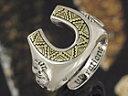 ホースシューリング 馬蹄 ココペリ フリーサイズ シルバーアクセサリー メンズ ネイティブ シルバーリング 指輪 シルバー925 送料無料