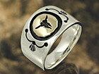 バッファロー メンズ レディース ネイティブ シルバーリング 指輪 シルバー925 メンズアクセ インディアンジュエリー プレゼントに人気 送料無料
