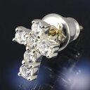 珠寶, 手錶 - ジルコニア クロス 十字架 メンズ レディース シルバーピアス シルバーアクセサリー シルバー925 18kポスト 18Kポスト キャッチ付き 送料無料