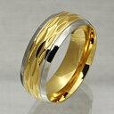 ゴールドカラー ステンレスリング 指輪 メンズ レディ