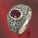 シルバーリング 指輪 カレッジリング silver925 ルビー メンズ レディース シルバーアクセサリー メンズアクセ ジュエリー アクセサリー メンズジュエリー ペアリングに大人気 送料無料