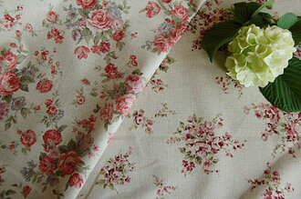 Cotton linen flower cross (cloth)