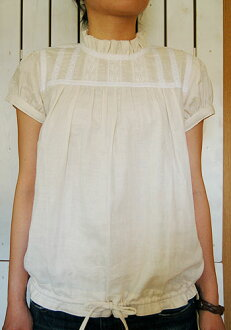 Antiqued blouse paper pattern