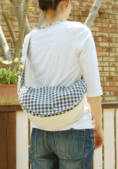 Crescent moon shoulder bag (the small) cotton hemp canvas kit