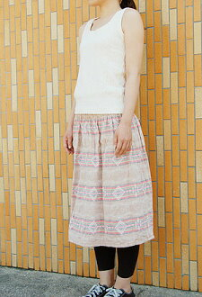 Shirring 2way skirt pattern