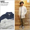 ショッピングasics KATO' DENIM(カトーデニム)BASIC SOUTIEN COLLAR COAT 2color ステンカラーコート