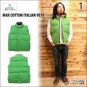 ショッピングダウンベスト CRESCENT DOWN WORKS(クレセントダウンワークス)WAX COTTON ITALIAN VEST 1color