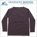 男性流行服飾 - SAINT JAMES(セントジェームス)ウエッソン ボーダー ネイビー×ブラウン