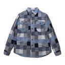KATO'(カトー)Basic Patchwork Shirt ベーシックパッチワークシャツ【サマーセール】【SUMMER SALE】