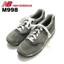 ショッピングニューバランス ニューバランス New Balance M998 グレー Gray Grey スニーカー Sneaker シューズ Shoes