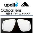 アポロ apollo オプティコ オプチカルレンズ(1セット) マスク用度付レンズ 左右 2枚1組 1セット 入荷日確認いたします