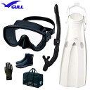 ■2019 GULL(ガル) ダイビング 軽器材6点セット アビームマスク カナールドライSPスノーケル マンティスフィン マリングローブ メッシュバッグ ブーツ DB3014 【送料無料】 メーカー在庫確認します