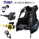 ダイビング 重器材セット 16番 *BCD TUSA BC-0601B *レギュ TUSA RS1103J *オクト *ゲージ アクアラング  トラスト2  ダイビ..
