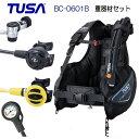 ◆ダイビング重器材 セット◆ 1番*BCD TUSA BC0601B *レギュ TUSA RS1103J *オクト *ゲージ TUSA  SCA-150 ダイビング 重器材..