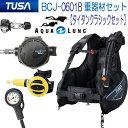 ◆ダイビング 重器材セット 2番 *BCD TUSA BCJ0601B  *レギュ アクアラング タイタン *オクト *ゲージ TUSA SCA-150 機能満載 ..