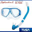 *TUSA* 軽器材2点セット マスク、スノーケルM-7500 マスク スプレンダイブ2 Splendive2 TUSA スノーケル  ダイビング 軽器材 ●楽..