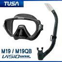 *TUSA* 軽器材2点セット マスク、スノーケルM-19 マスク ヴィジオ ウノ Visio uno TUSA スノーケル  ダイビング 軽器材 メーカー在庫...
