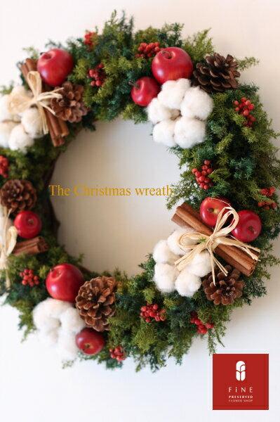 プリフラのクリスマスリース The Christmas wreath