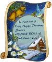 トールペイント図案付白木素材 巻紙のクリスマスプレート