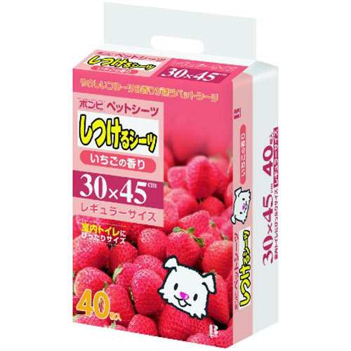 しつけるシーツ いちごの香り レギュラー 40枚...の商品画像