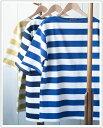 "SAINT JAMES(セントジェームス)OUESSANT ""BORDER""[Men's]ウエッソン太ボーダー半袖半袖バスクシャツ"