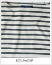 SAINT JAMES(セントジェームス)L/Sバスクシャツ-stripe OUESSANT セントジェームスウエッソンECRU/ACIER