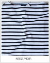 SAINT JAMES(セントジェームス)L/Sバスクシャツ-stripe OUESSANT セントジェームスウエッソンNEIGE/NOIR